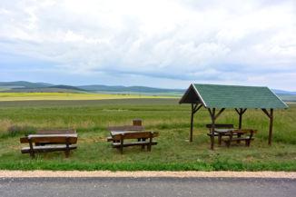 pihenőhely a Nemesvámos és Tótvázsony közötti bicikliút mellett