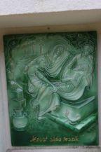 a kálvária tizennegyedik stációjának kerámia képe