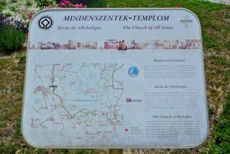 Mindszentek római katolikus templom - információs tábla