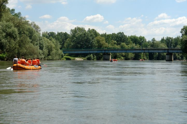 rafting a Murán, a letenyei hídnál