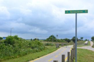 Veszprém és Nemesvámos közötti bicikliút, Nemesvámos irányába