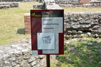 Villa Romana Baláca - lakóépület alaprajz