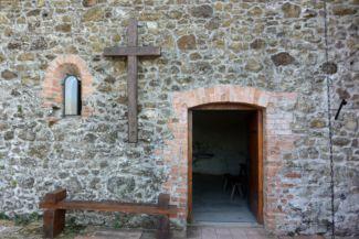 a várkápolna bejárata a szigligeti várban