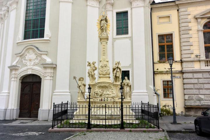 az 1739-es pestis emlékére készült Mária-szobor