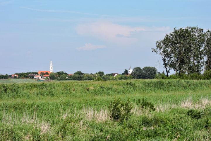 kilátás a Sió-csatorna partjáról Balatonszabadi felé