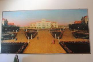 az Esterházy-kastélyt ábrázoló festmény a kastélyban