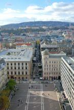 a Szent István tér és a Zrínyi utca a Bazilika kupolájából