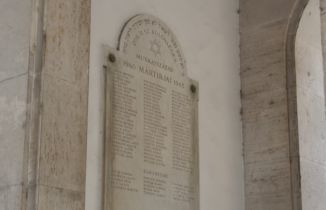memorial plaque of victims of World War II