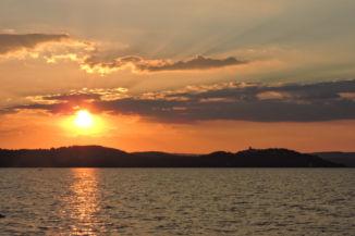 naplemente Zamárdiból nézve