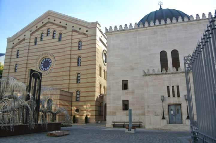 back of the synagogue and the Heroes' Temple