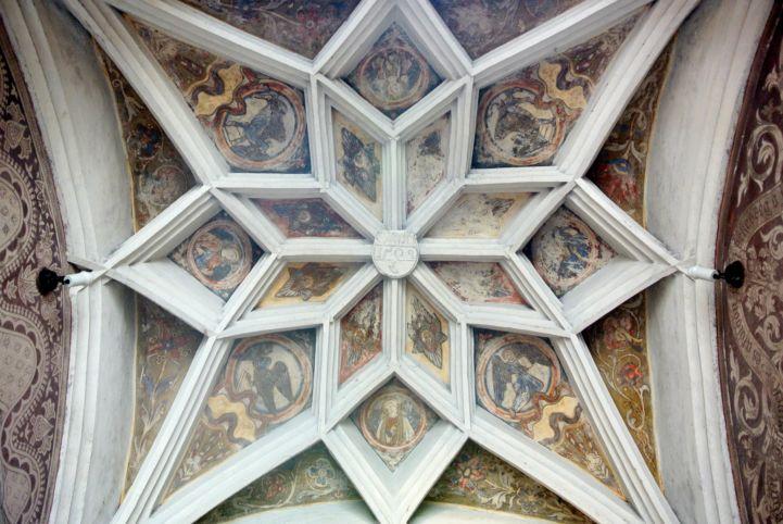 Szent Kereszt felmagasztalása-templom gótikus csillagboltozata