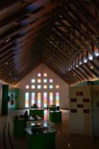 a Természet Háza Látogatóközpont különösen szép belső tere