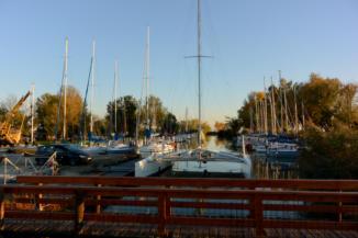 keszthelyi KJAVSE kikötő napnyugtakor