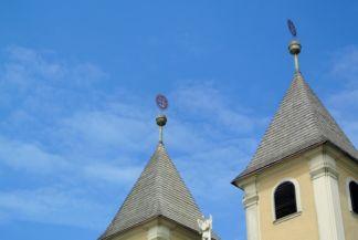 Mindszentek római katolikus templom tető csúcsdíszítés
