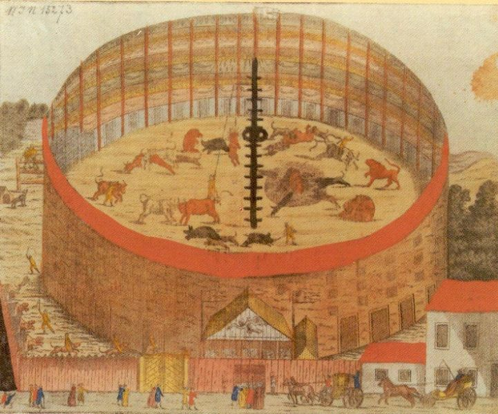 a bécsi Hetztheaterhez hasonló építmény állt a mai Bazilika helyén