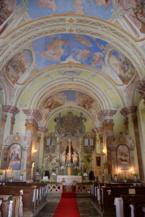 a szécsiszigeti Szent Kereszt-templom belseje