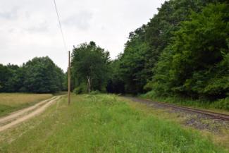 Út Törösznek és Kámaháza között a vasút mentén