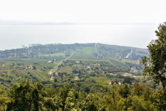 badacsonyi panoráma az Egry József kilátóhelyről