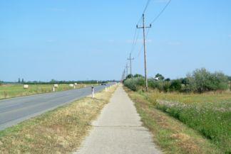 kerékpárút Apetlen és Pamhagen között