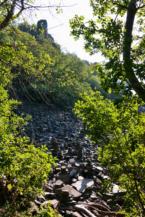 bazalttörmelék a Bujdosók lépcsője mentén