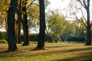 kis park a Balatoni Bringakörút mellett Balatongyörökön