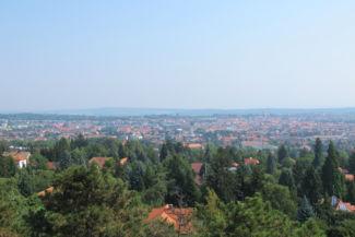 Sopron északi része a Sörházdombi kilátóból