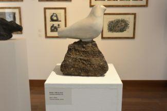 Borsos Miklós Madár című szobra a KOGART állandó kiállításán