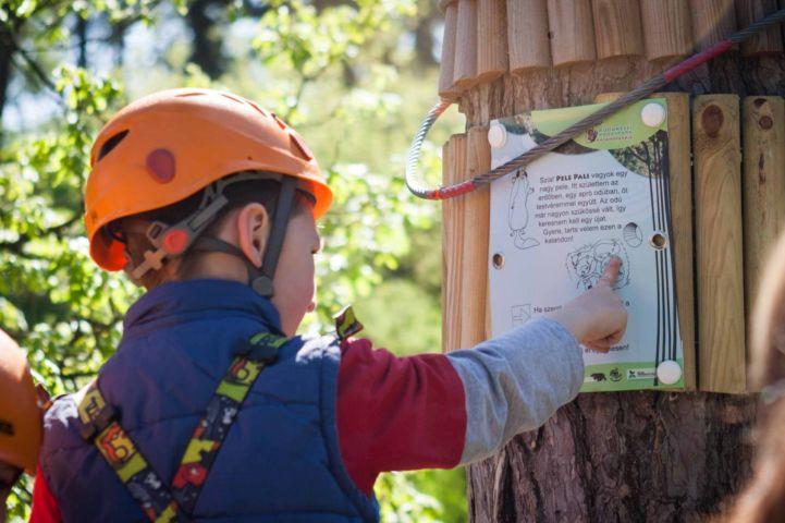 A kalandpark B pályáján Pele Pali történetével ismerkedhetnek meg a kisebbek