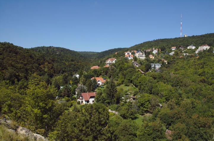 kilátás a Széchenyi-hegy irányába