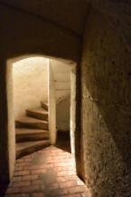 csigalépcső az egykori vadászkastélyban, a Csillagvárban