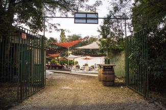 az Új Budai Parkszínpad bejárata