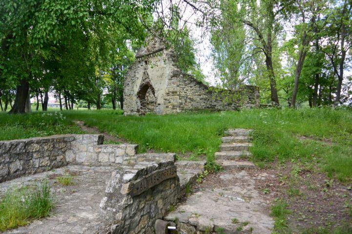 Almás-forrás a Kövesdi templomrom mellett