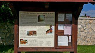 református templom, információs tábla