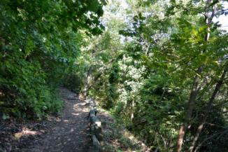 a kéktúra útvonala a Badacsonyon