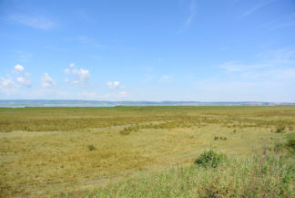 a Fertő tó látképe a nemzeti parkon át vezető bicikliútról
