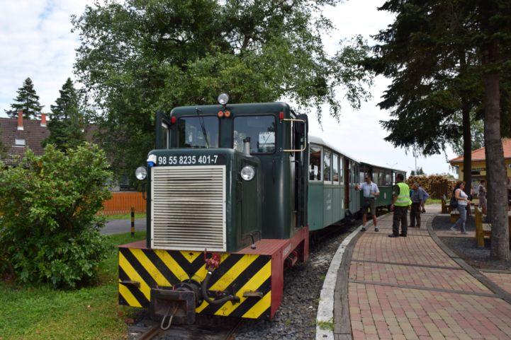 az erdei vasút állomása Csömödéren