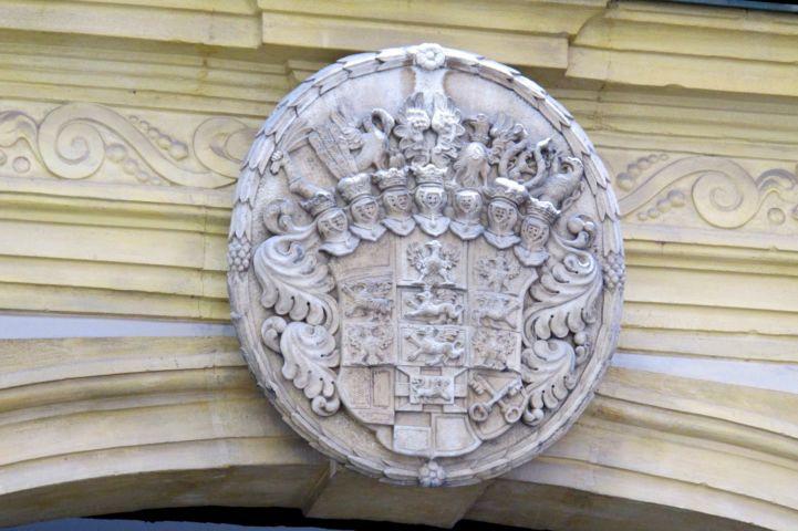 a brandenburgi választófejedelem címere az Eggenberg-ház kapuja fölött