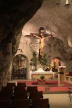 a barlangrendszer temploma, ahol a szentmiséket tartják