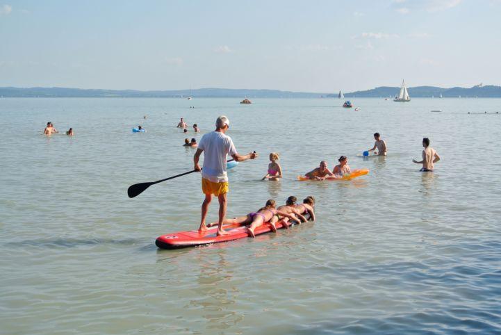 paddling a Balatonban