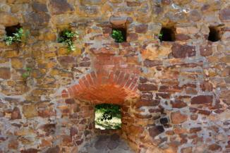 salföldi pálos kolostor rom - ablak