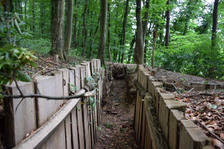 Bunkerútvonal a Páka és Csömödér közti erdőben