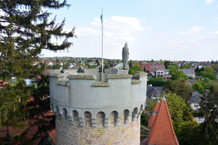 Székesfehérvár látképe a Bory-vár egyik tornyából