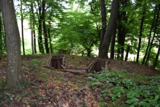 erdei lőállások a Páka és Csömödér közti erdőben