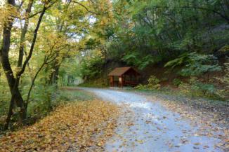 a Kígyós-völgyi esőbeálló a Büdöskúti esőbeálló és Balatongyörök között nagyjából félúton van a Keszthelyi-hegységben