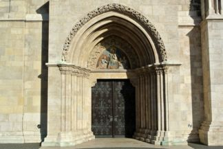 Gothic entrance of the Matthias Church