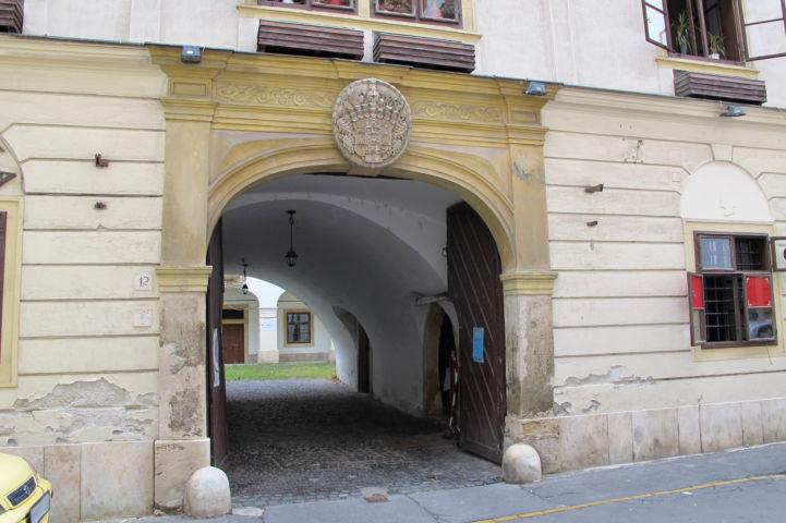 az Eggenberg-ház bejárata