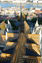 Zsolnay tiles on the roof of the Matthias Church