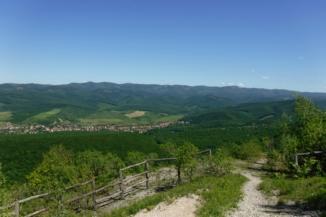 Dolomitbánya feletti kilátópont a Bükkben