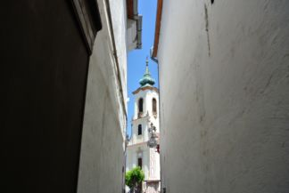 Blagovestenska Church Viewed from an Alley