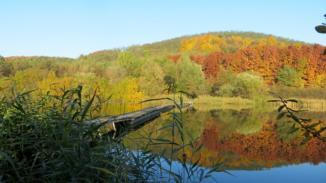 őszi Cserhát a Nőtincsi-tónál